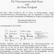 Vereinsurkunde aus dem Jahre 1964
