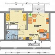 Zweiraumwohnung mit 46,5qm